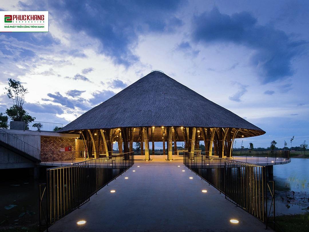 Trung tâm hội nghị Tre Việt – Khu đô thị văn hóa thương mại du lịch Làng Sen Việt Nam đăng ký áp dụng Hệ thống tiêu chí Công trình xanh LOTUS