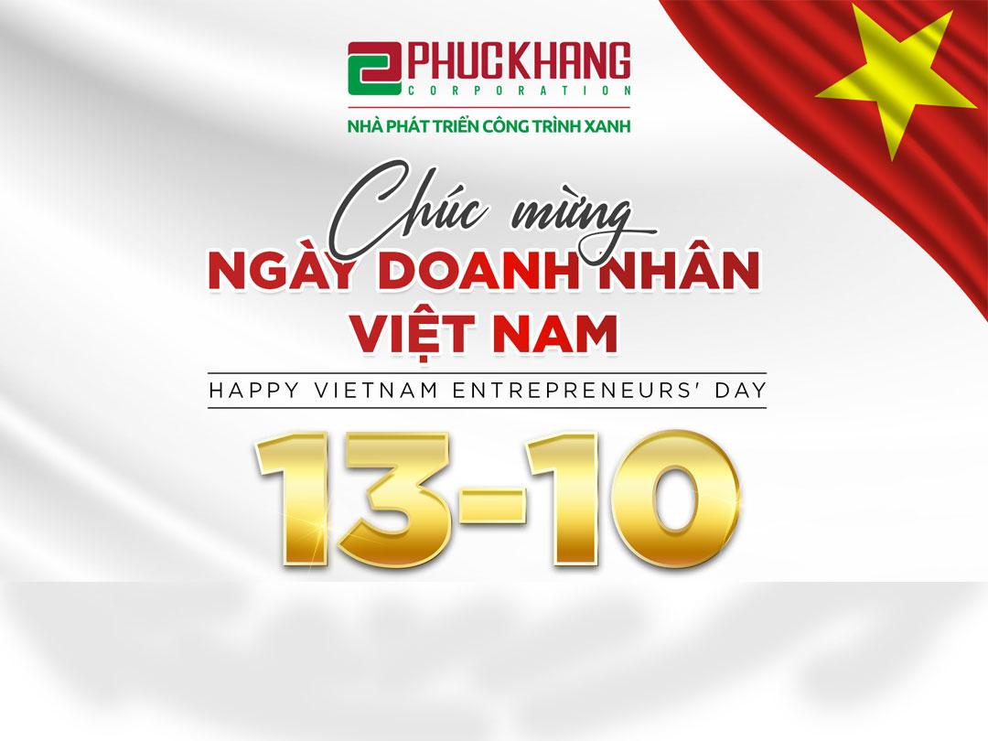 PHUC KHANG CORPORATION CHÚC MỪNG NGÀY DOANH NHÂN VIỆT NAM  (13/10)