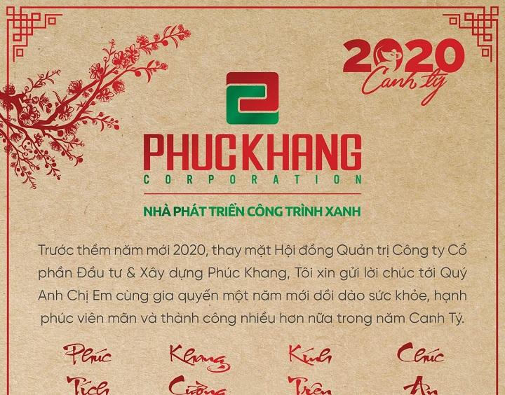 THƯ CHÚC TẾT 2020 CỦA CHỦ TỊCH ĐẾN QUÝ KHÁCH HÀNG CỦA PHÚC KHANG